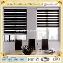 100% Polyester Fabric Zebra Roller Blinds day and night blinds